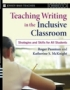 Teaching Writing in the Inclusive Classroom