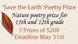 Save the Earth Poetry Prize