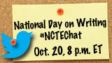 National Day on Writing Twitter Chat, October 20, 2013