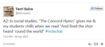 Terri Suico #nctechat tweet about poetry
