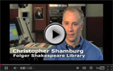 video from the Folger Shakespeare Library