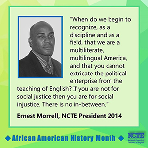 Quote from Ernest Morrell