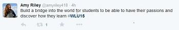 #WLU15 tweet from Amy Riley