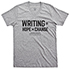 Thumbnail for National Day on Writing Gray Short-sleeve T-shirt, V-Neck Fitted, Medium